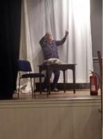 Steve (Malc) rehearsing dying quite well!